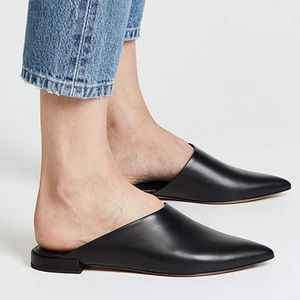 Vince Pointed Toe Danna Leather Mule Flats